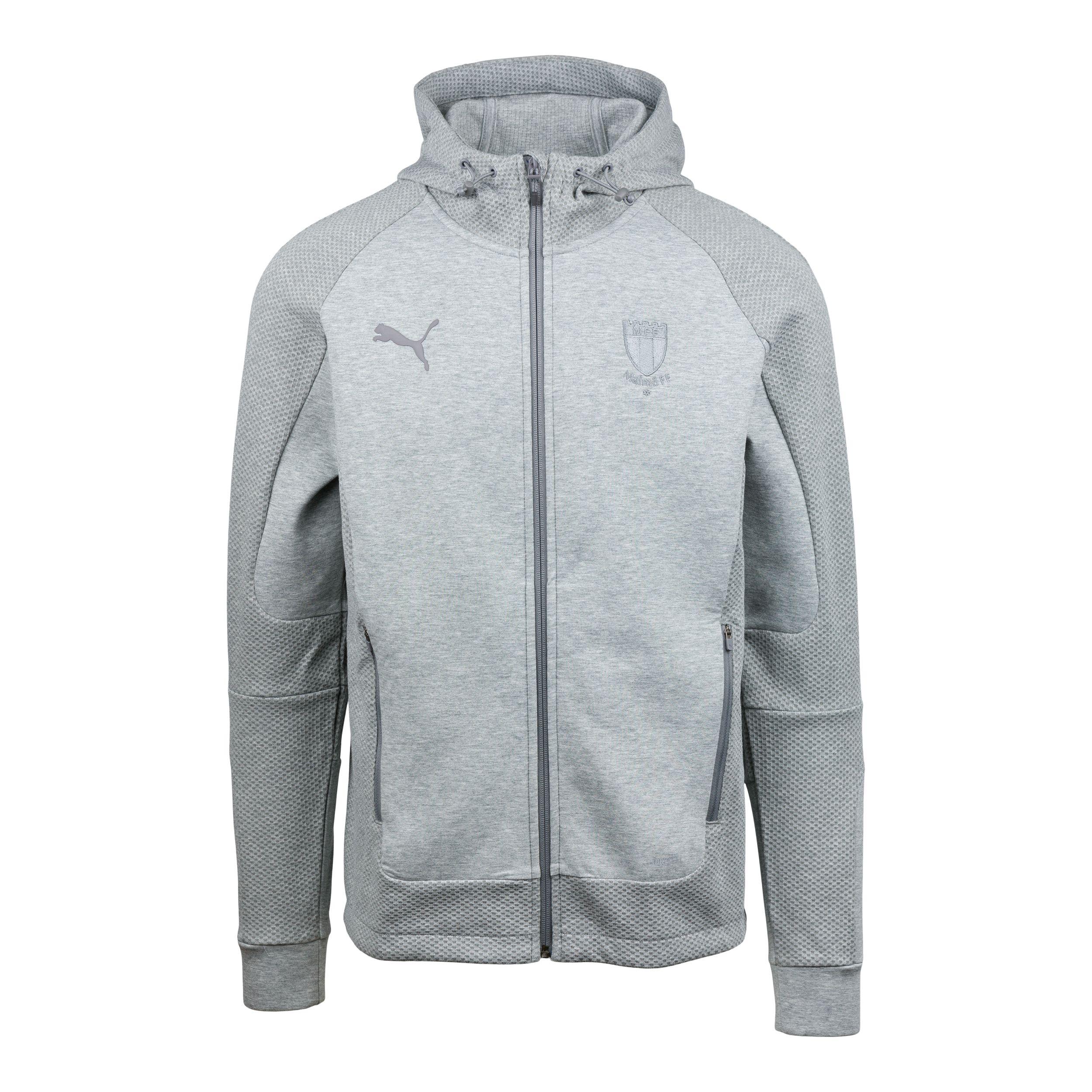 Puma teamcup ziphood grå logo