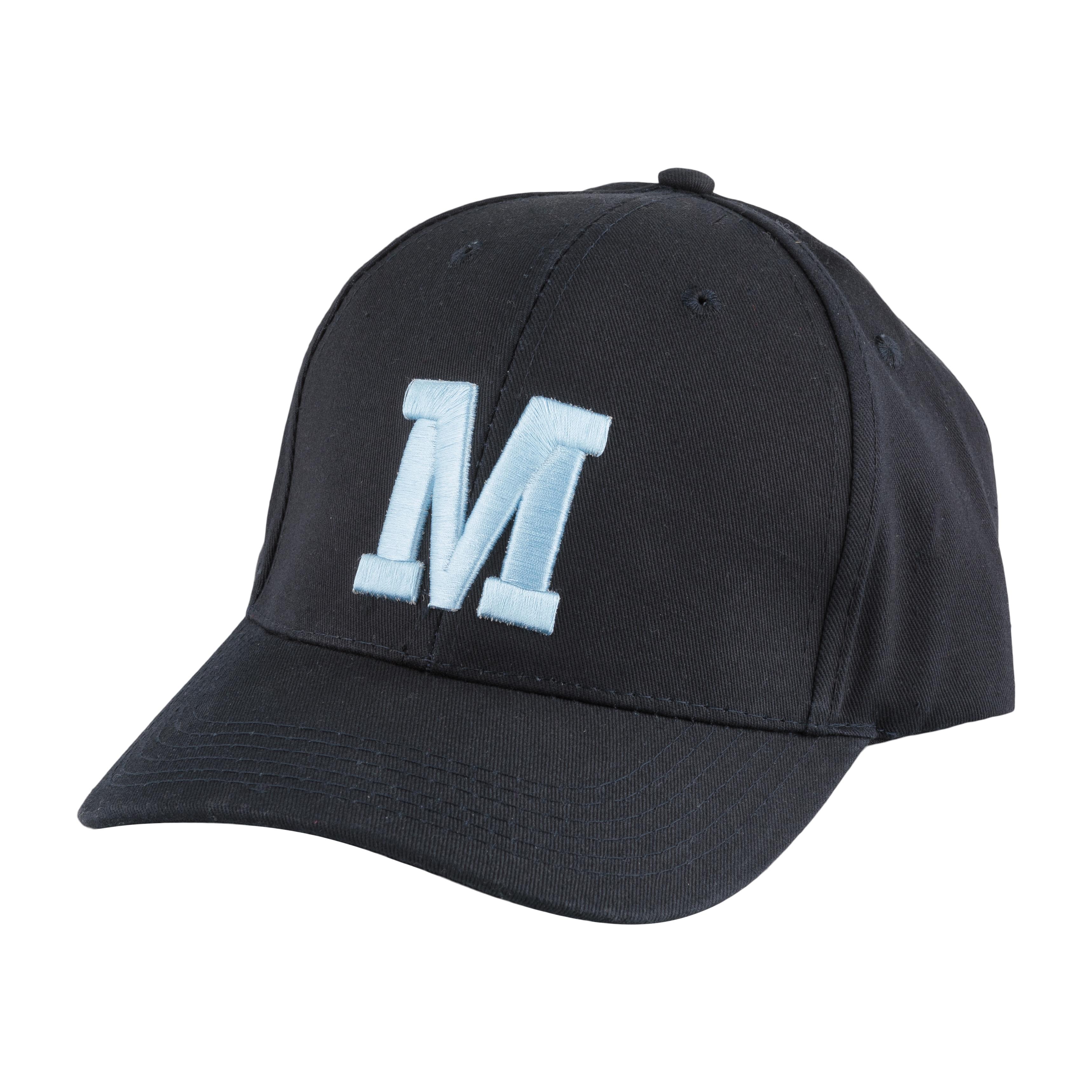 Keps marinblå M:et
