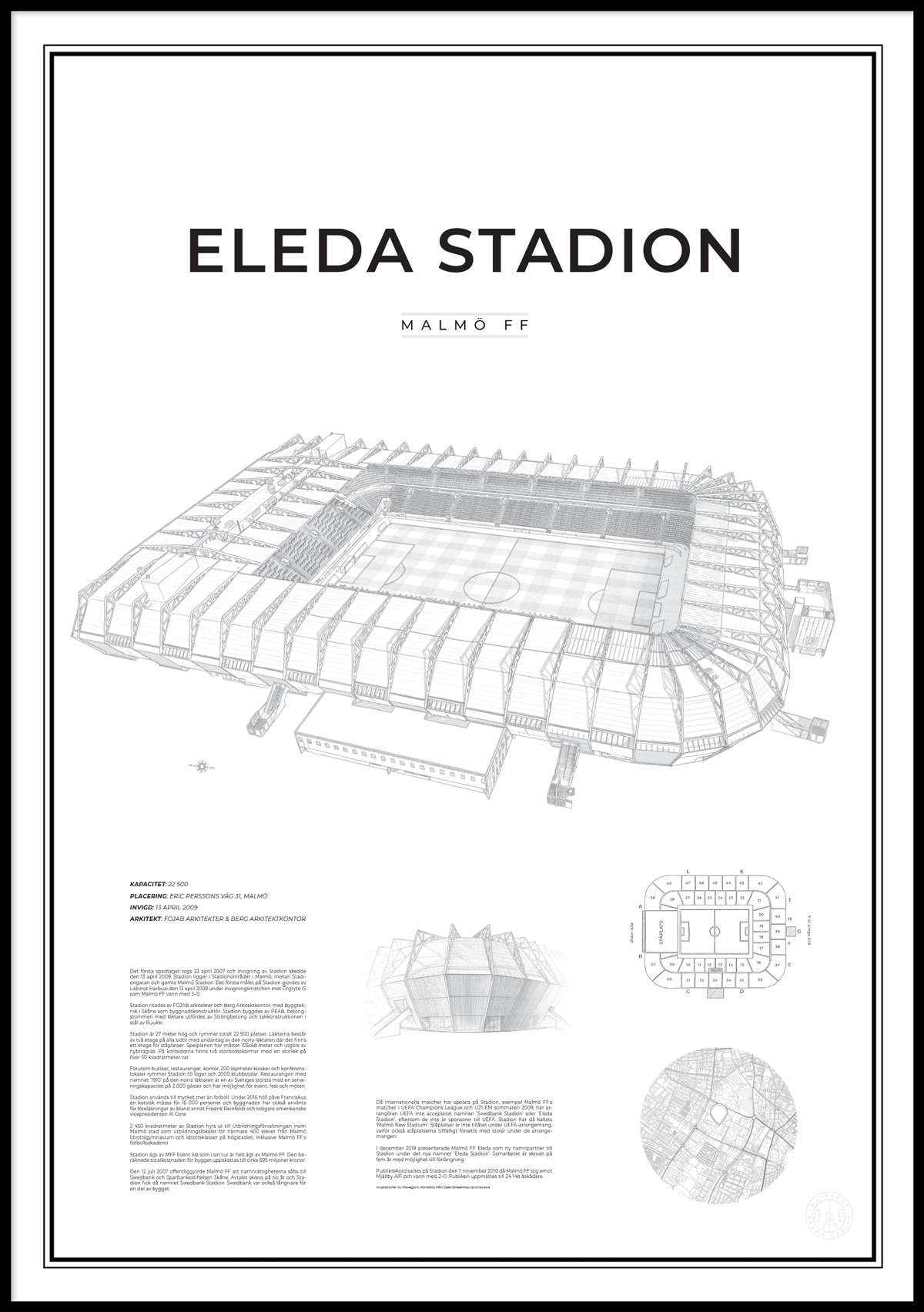 Poster Eleda Stadion 50x70