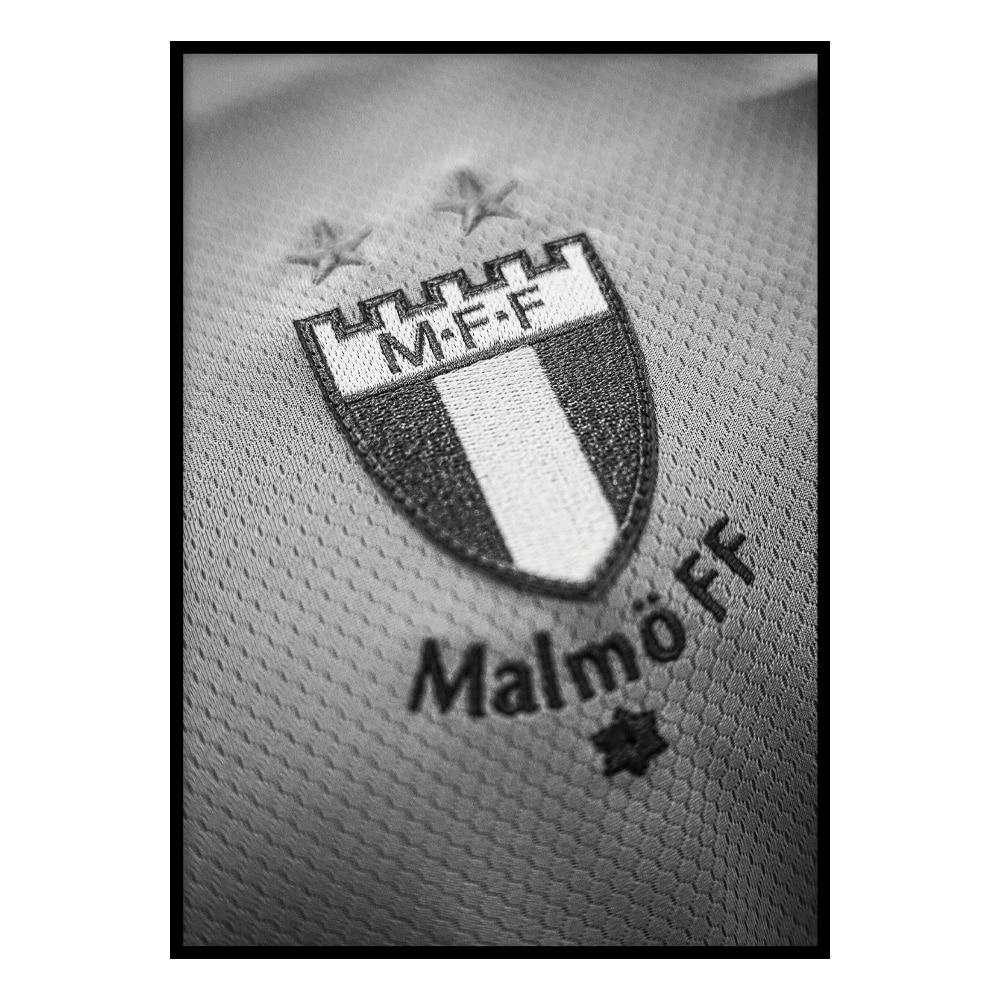 MFF emblem svartvitt