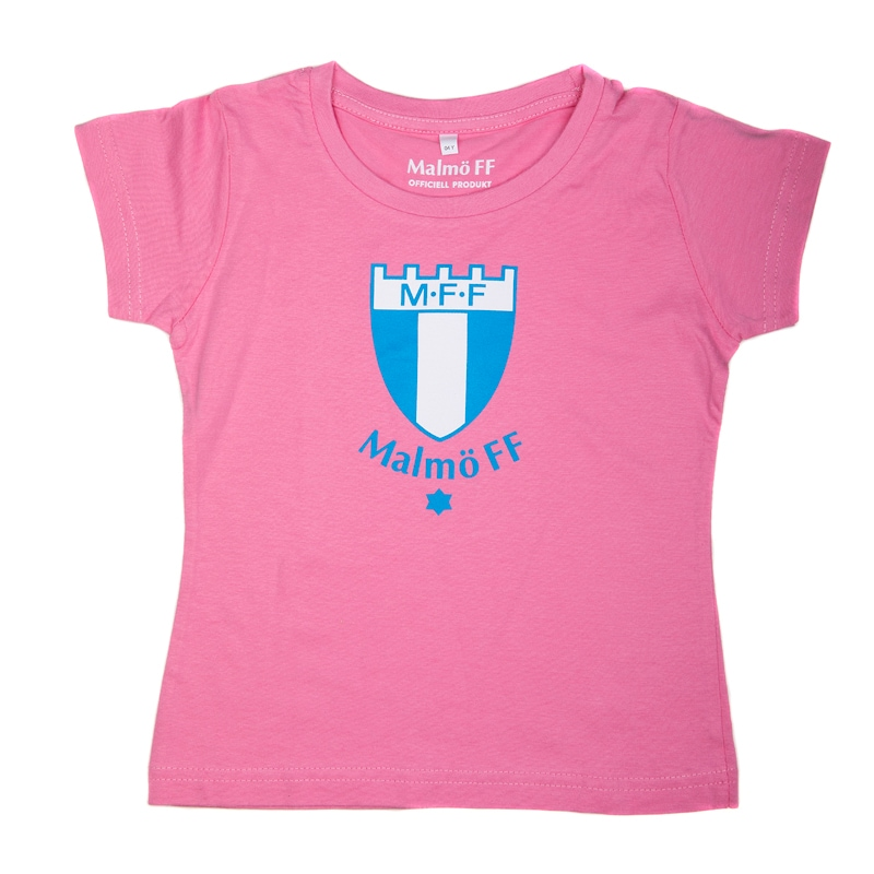 T-shirt stor logo rosa barn