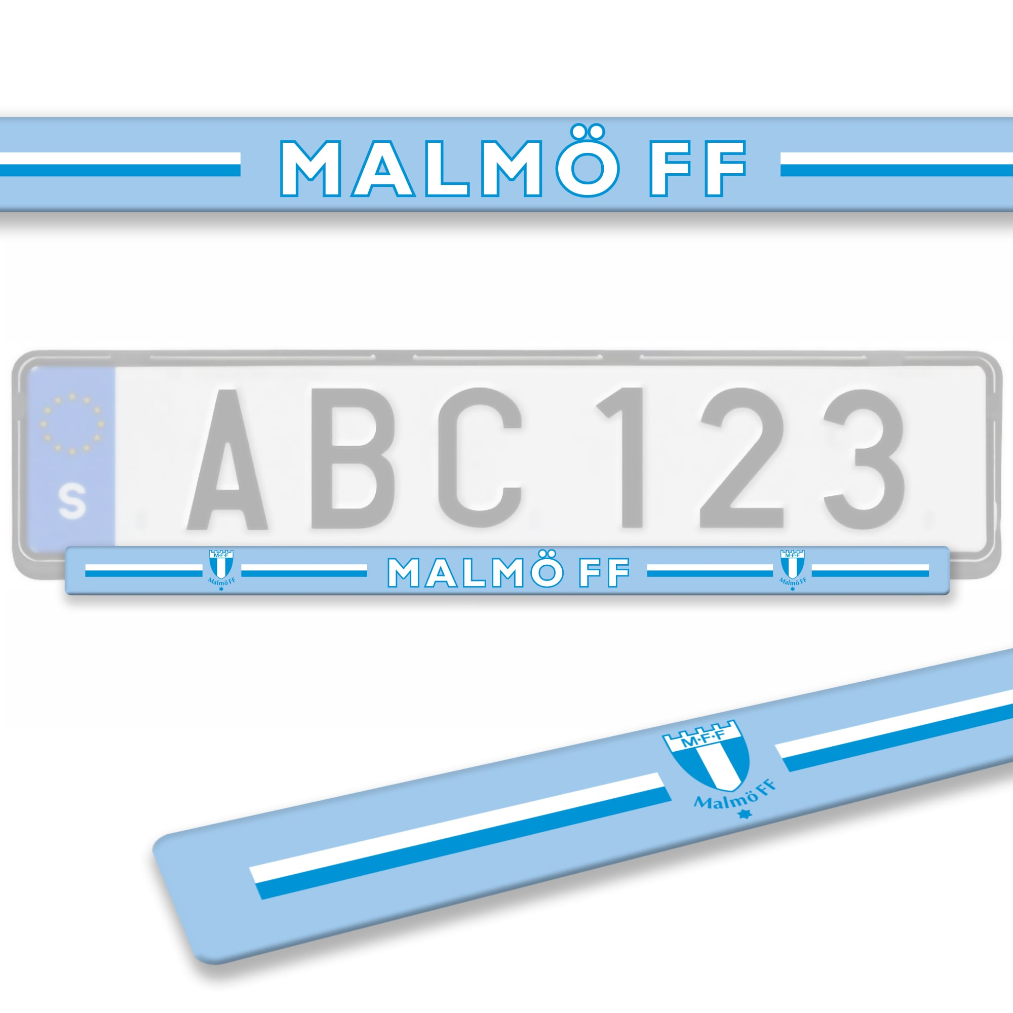 Nummerplåtlist ljusblå Malmö FF