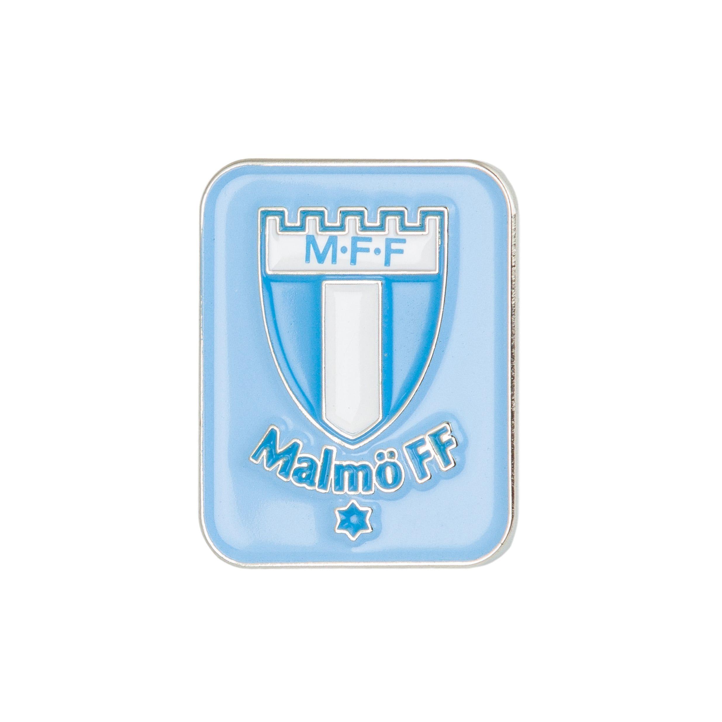 Pin ljusblå logo