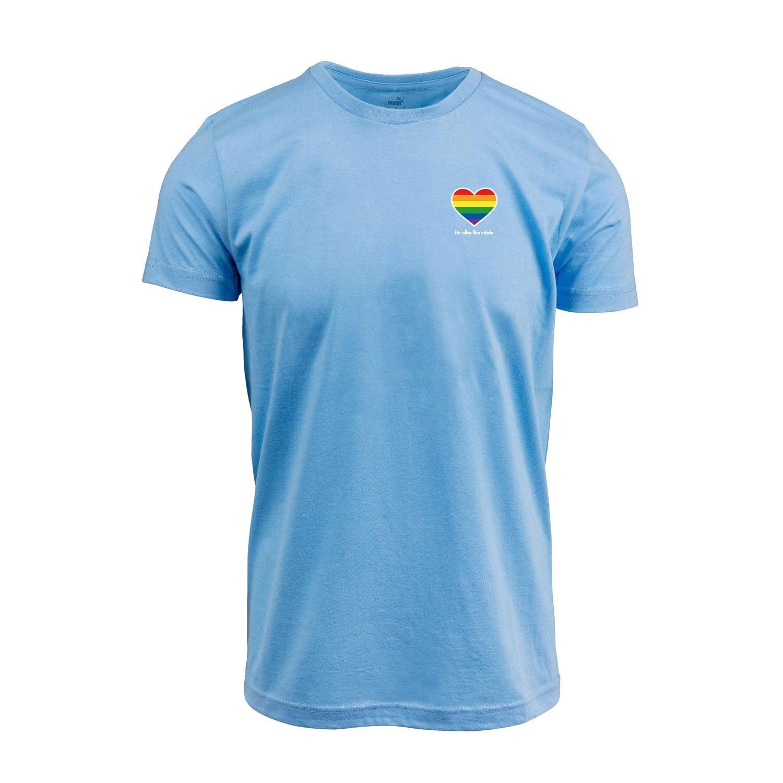 Puma t-shirt ljusblå pride hjärta
