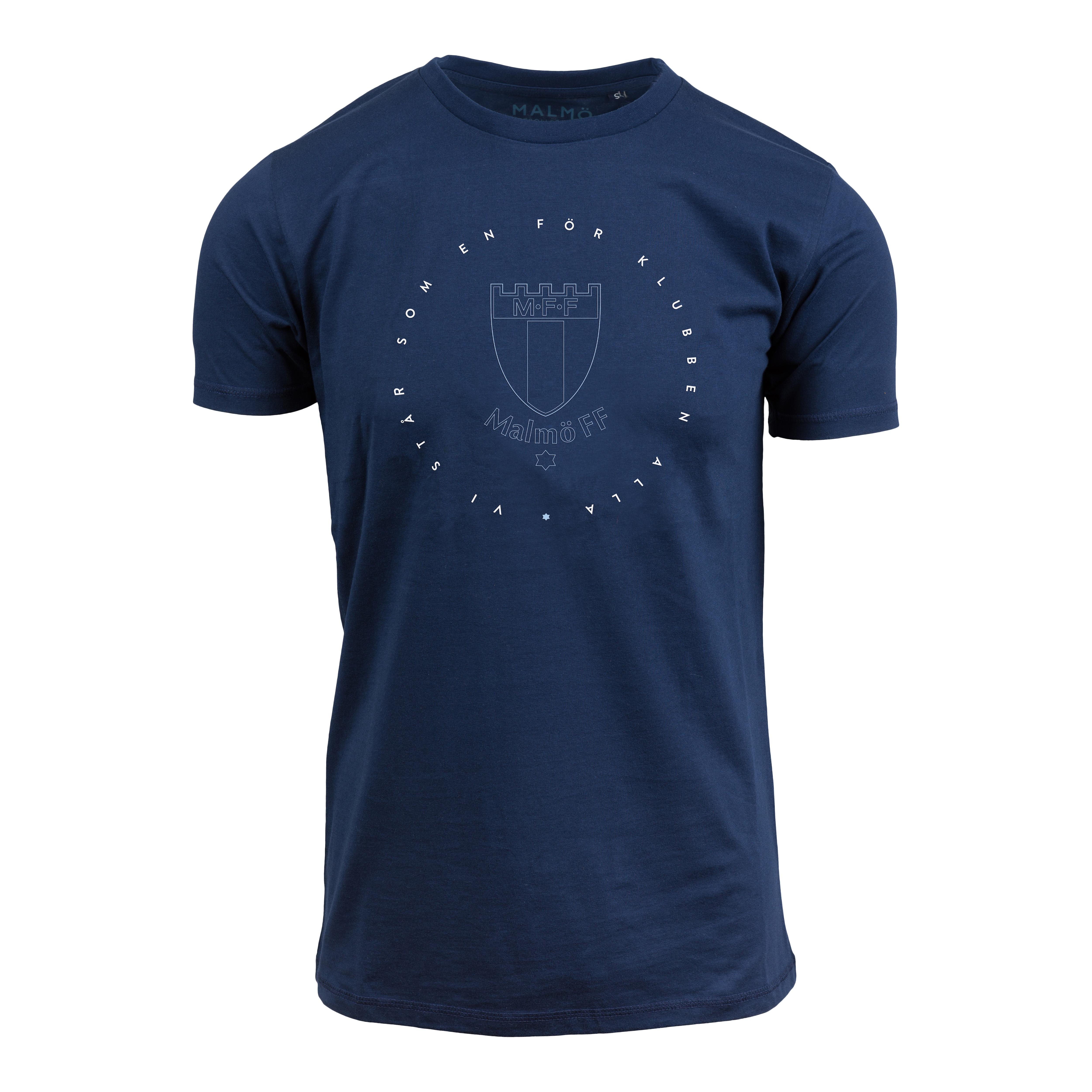 T-shirt marin Vi står som en