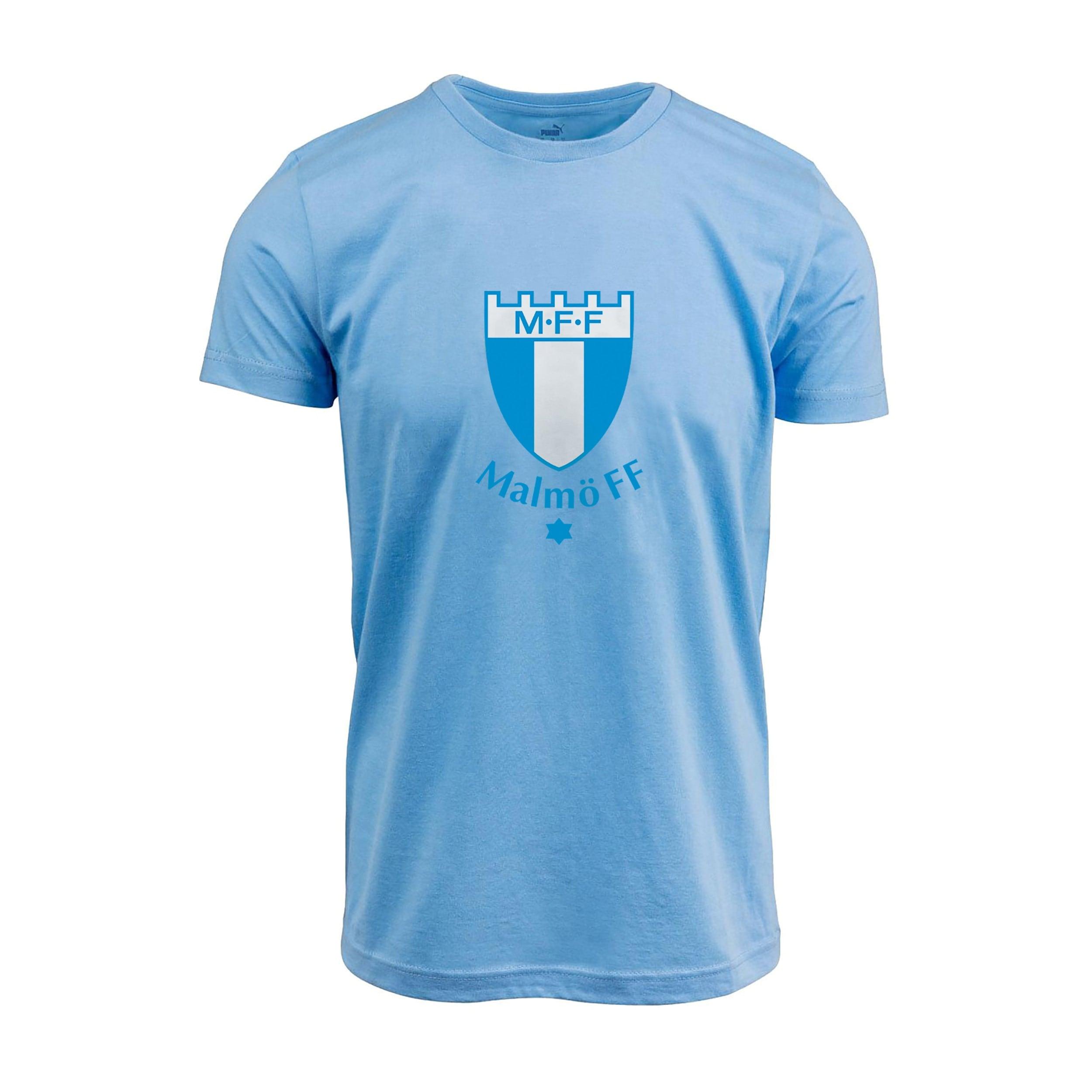 T-shirt barn stor logo ljusblå