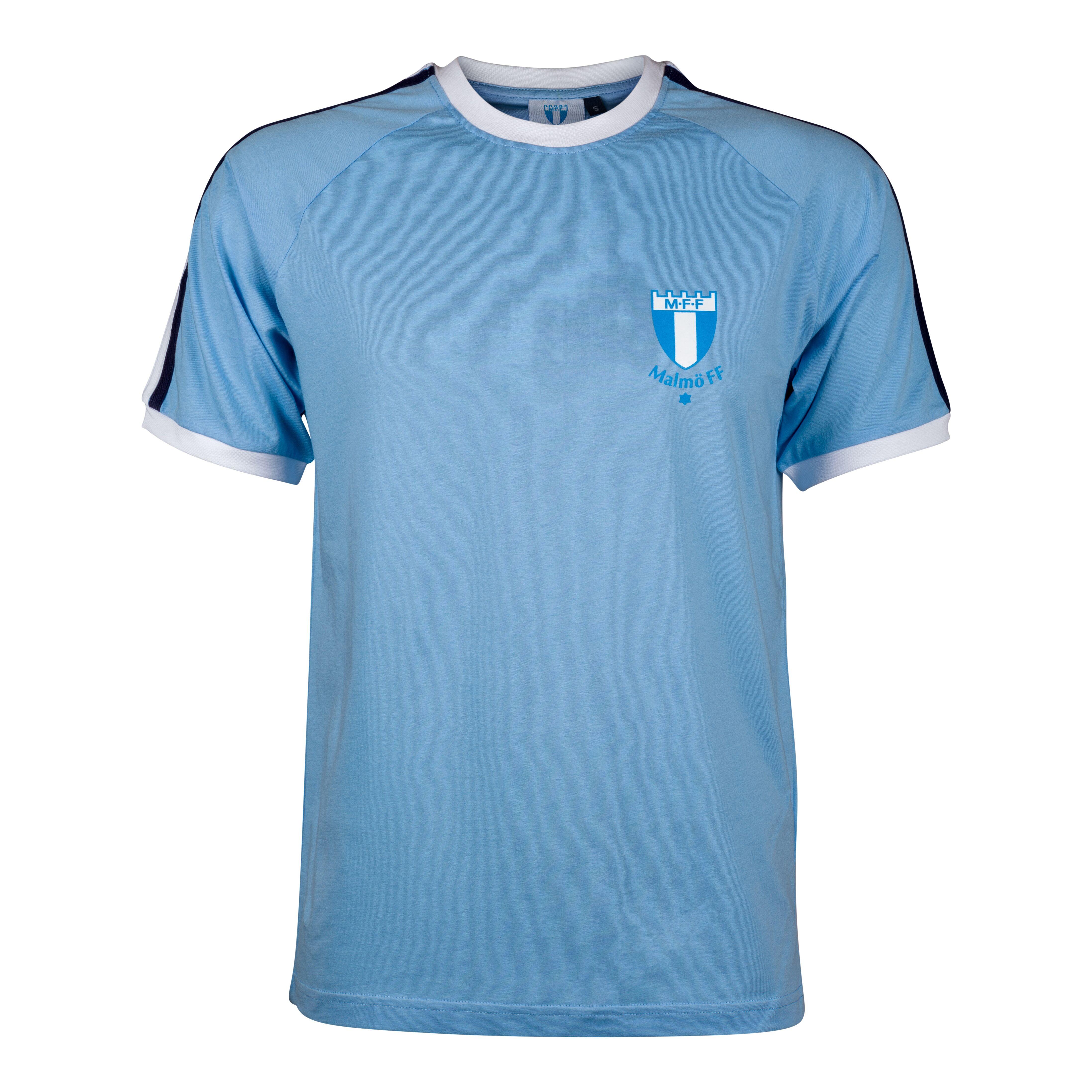 T-shirt ljusblå retro