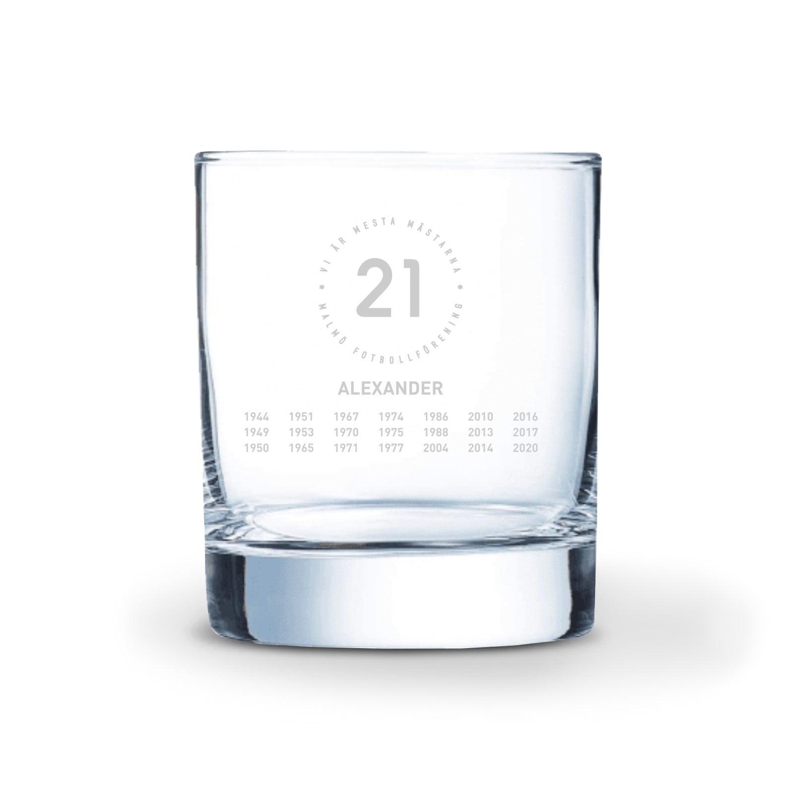 Whiskeyglas 21 eget namn