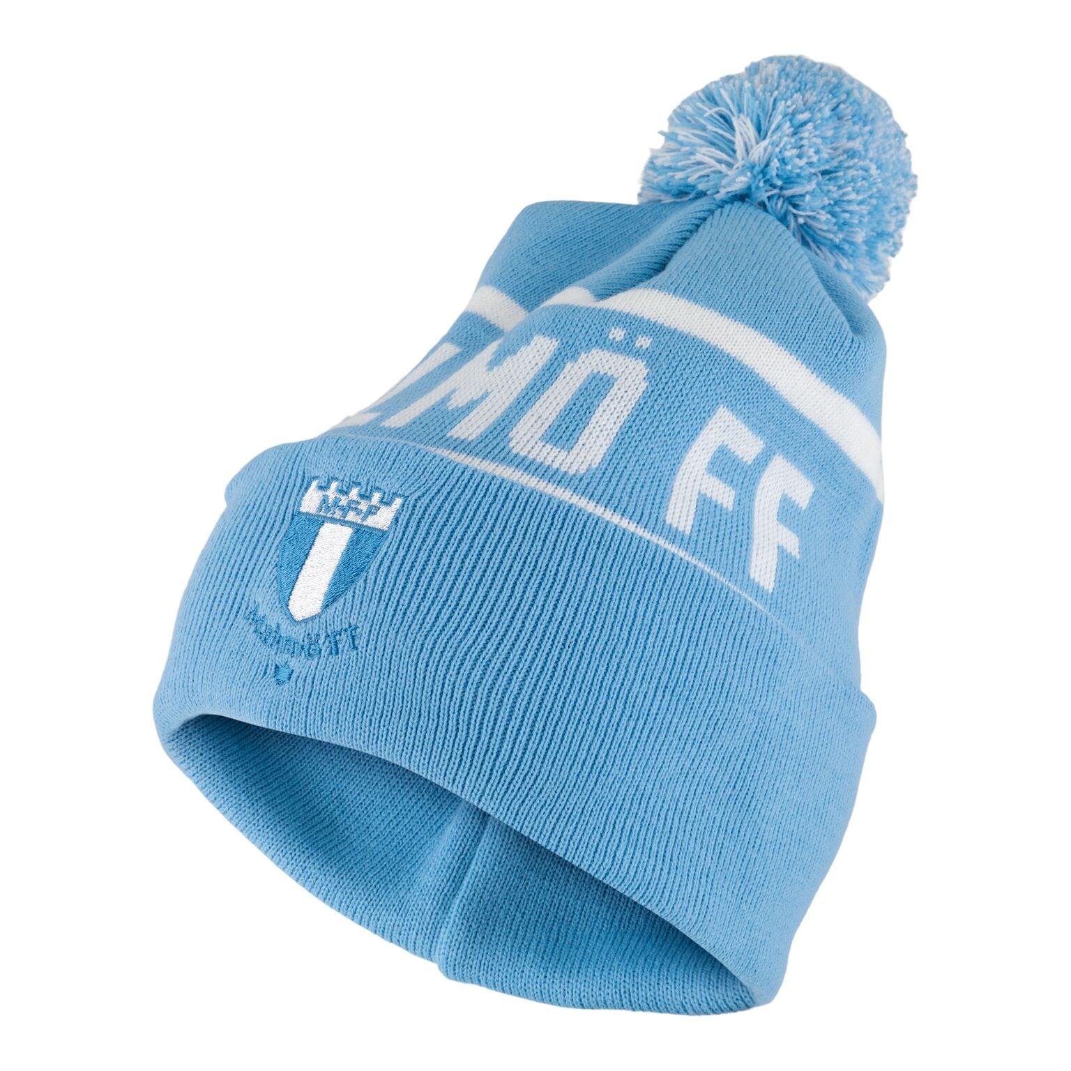 Mössa pompom Malmö FF ljusblå