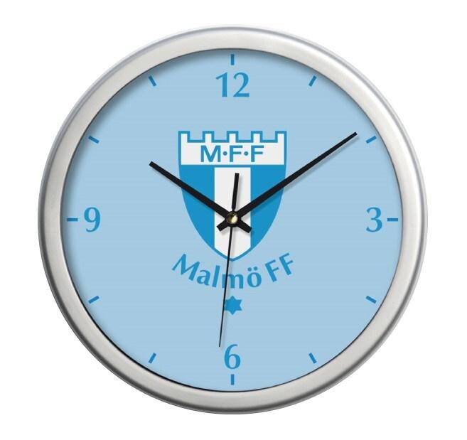 Väggklocka ljusblå MFF