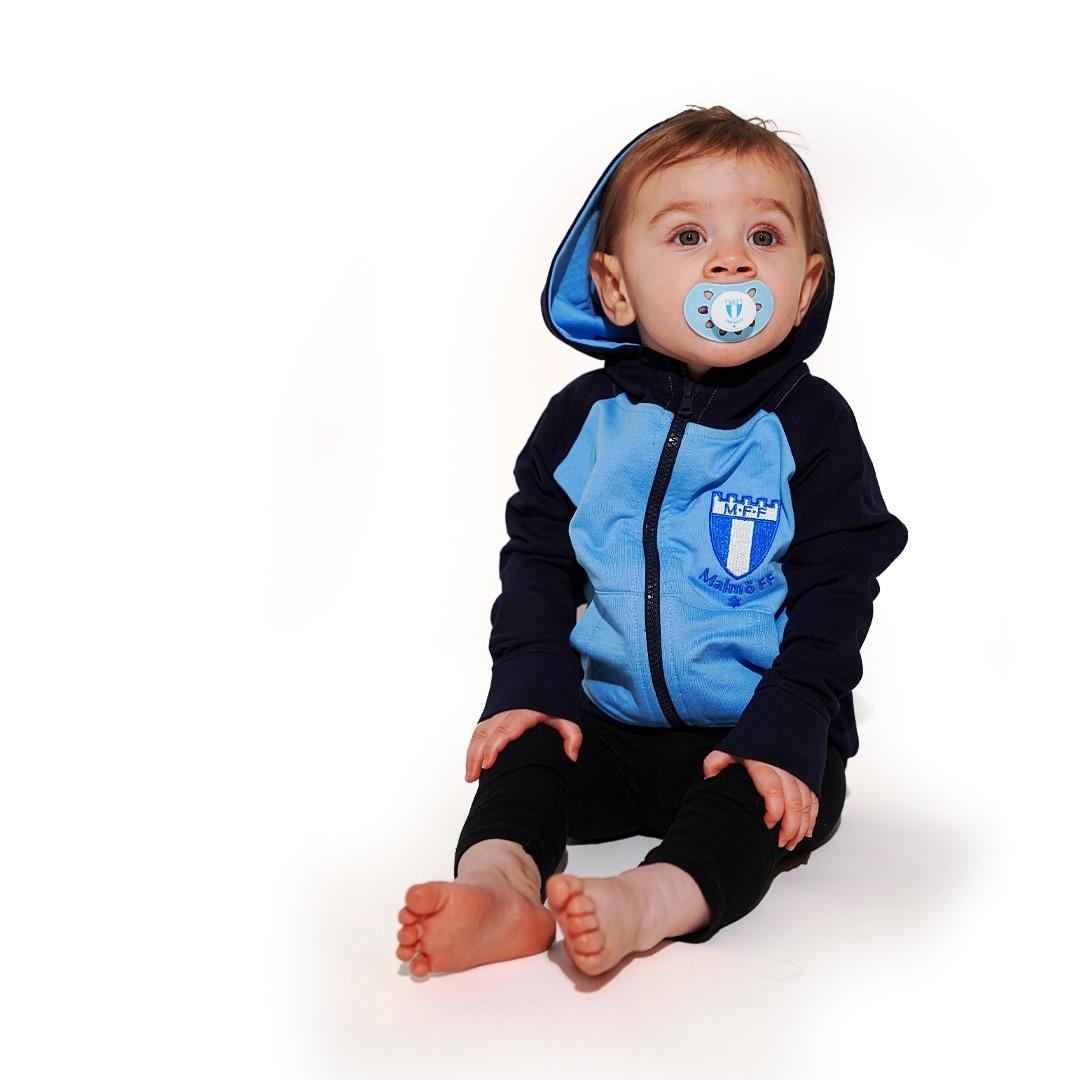 Ziphood baby ljusblå/marin